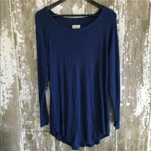 Chaser Navy Waffle Knit Long Sleeve Thermal XXL